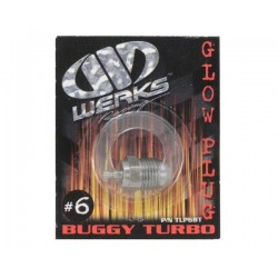 Werks Racing 6 Turbo Glow Plug (Medium) (Off-Road)