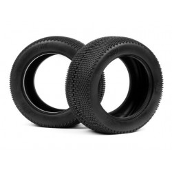 HB MEGABITE TIRE (Red/Truggy/2pcs)