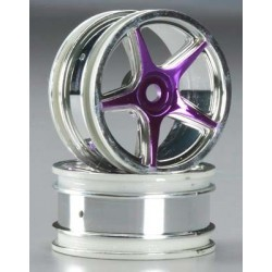 Thunder Tiger 26mm 5-Spoke Wheel Chrome/Purple TA-VX