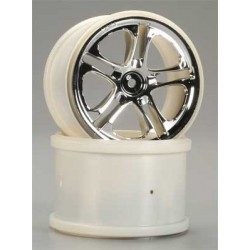 "Traxxas Chrome Wheels Gemini 3.8"" Maxx/Revo (2)"