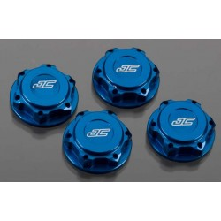 JConcepts Illuzion 17mm Lightweight Closed End Wheel Nut (Blue) (4) (Fine Thread)