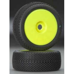 JConcepts Subcultures 1/8 Buggy Tire/Yellow Green (2)