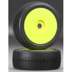 JConcepts Hybrids 1/8 Buggy Tire Green w/Yellow Whl (2)