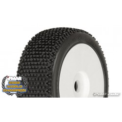 Pro-Line Pre-mounted Revolver tires, M3 Soft Mounted on V2 White Wheels