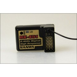 Sanwa RX-451 Receiver (2.4 GHz, FHSS-3, 4-Channel)