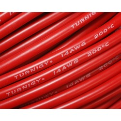 Turnigy Pure-Silicone Wire 14AWG (10cm) RED