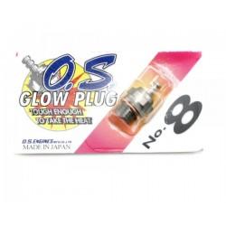"O.S. No.8 Short Body Standard Glow Plug ""Medium"""