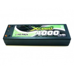 Xceed Lipo battery Hardcase 2S 7.4V 4000mAh, 25C