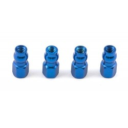 FT Blue Aluminum Shock Bushing, standard