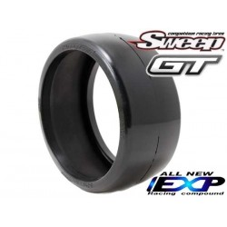 Sweep 8th GT Belted Slick EXP 55deg Hard 2pc tire set, with Pre Glued options