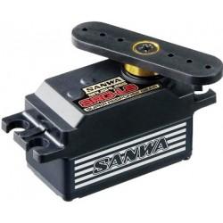 Sanwa SRG-LS Black Low Profile Brushless Servo - 0.08s/60deg - 12.8 KG/cm - Full Metal Gear - LiPo 7.2v