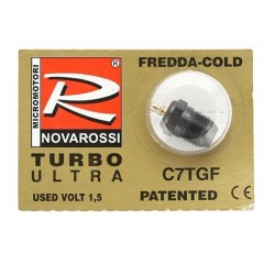 "Novarossi ""Turbo"" 7 Short Body Ultra Glow Plug (Cold)"