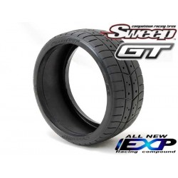 8th GT Belted Treaded EXP 55deg Hard 2pc tire set, with Pre Glued options