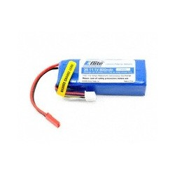E-flite 3S Li-Polymer Battery Pack, JST Connector (11.1V/800mAh)