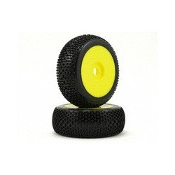 VP Pro Cutoff Pre-Glued 1/8 Buggy Tire (Yellow) (2) (Ultra Flexx)