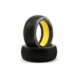 JConcepts Cross Hairs 1/8th Buggy Tires (Yellow) (2)