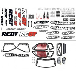 RC8T Decal Sheet