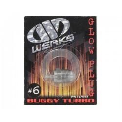 Werks Racing 6 Turbo Glow Plug (Medium) (Off-Road)