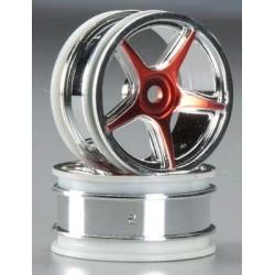 Thunder Tiger 26mm 5-Spoke Wheel Chrome/Purple TA-VX