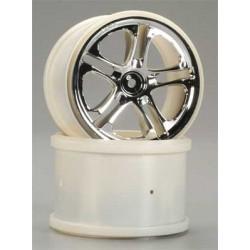 """Traxxas Chrome Wheels Gemini 3.8"""" Maxx/Revo (2)"""