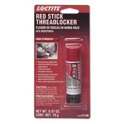 Loctite 37700 Red High Strength Threadlocker Stick, 19-gram