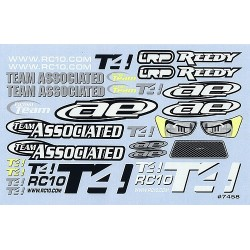 RC10T4 Decal Sheet